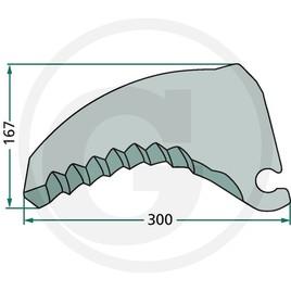 Schneidmesser KR10-16S-1